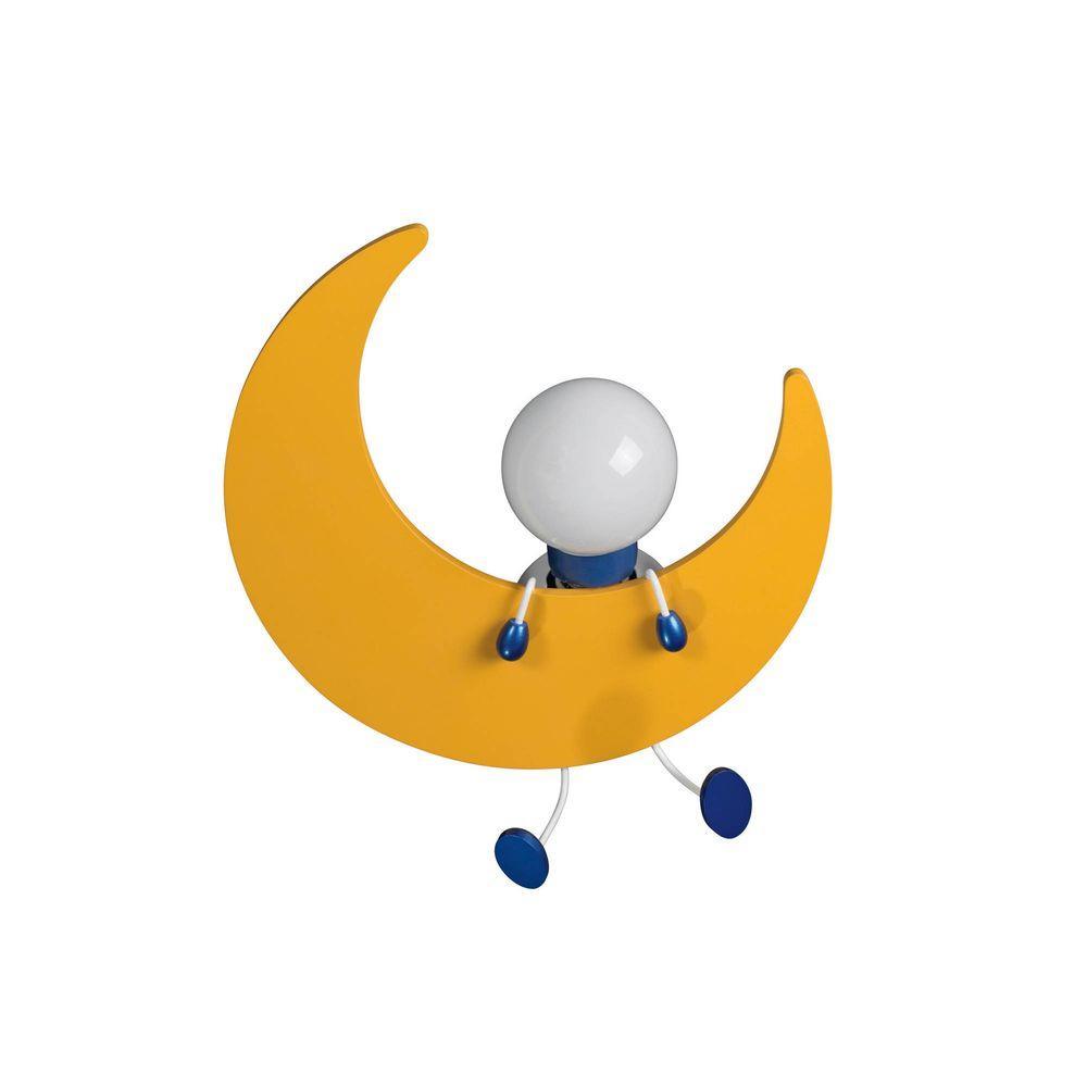 Philips Kidsplace Lunardo 1-Light Half Moon Yellow Ceiling Light