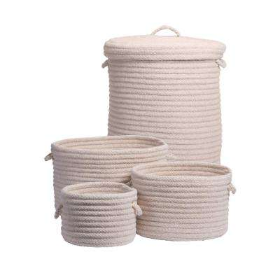Ethan 4-Piece Natural Wool Basket Set