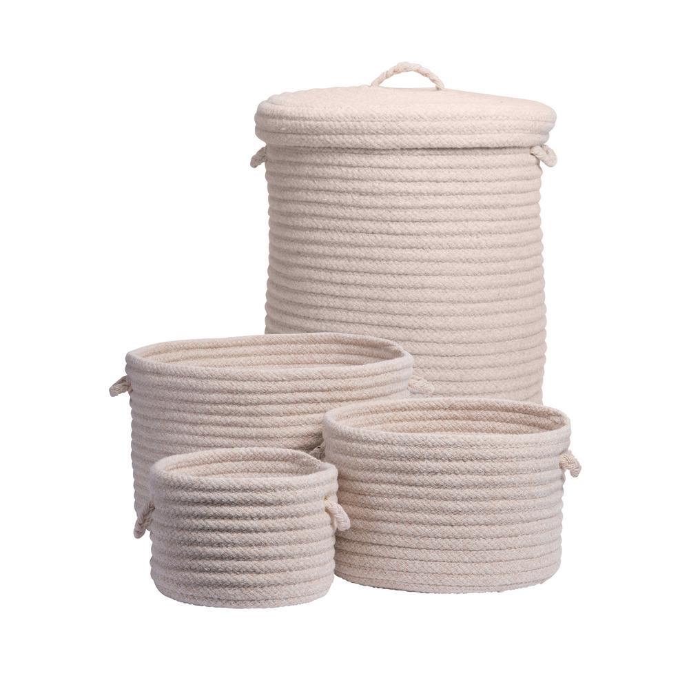 Ethan 4-Piece Natural Wool Basket Set