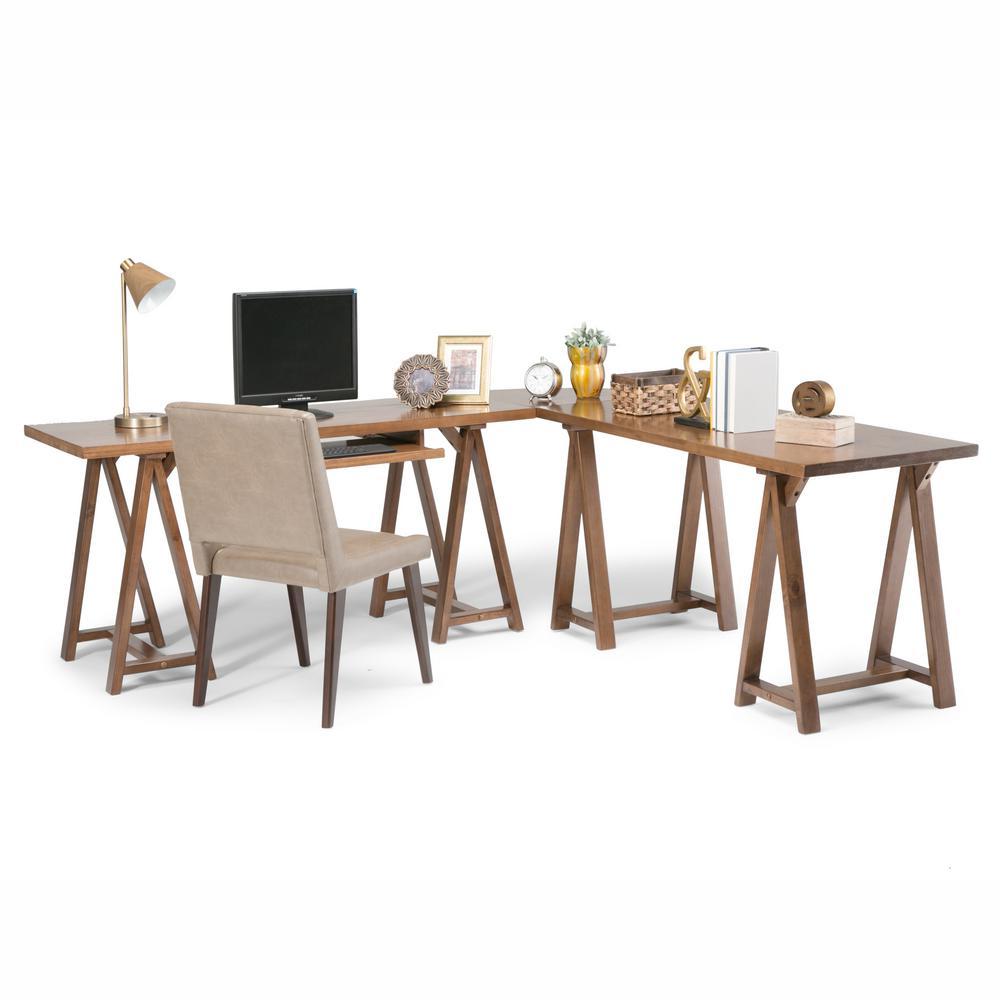 Sawhorse Medium Saddle Brown Desk