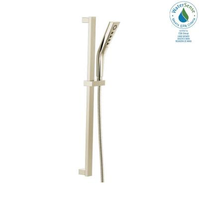 Pivotal 3-Spray H2OKinetic Hand Shower with Slide Bar in Polished Nickel