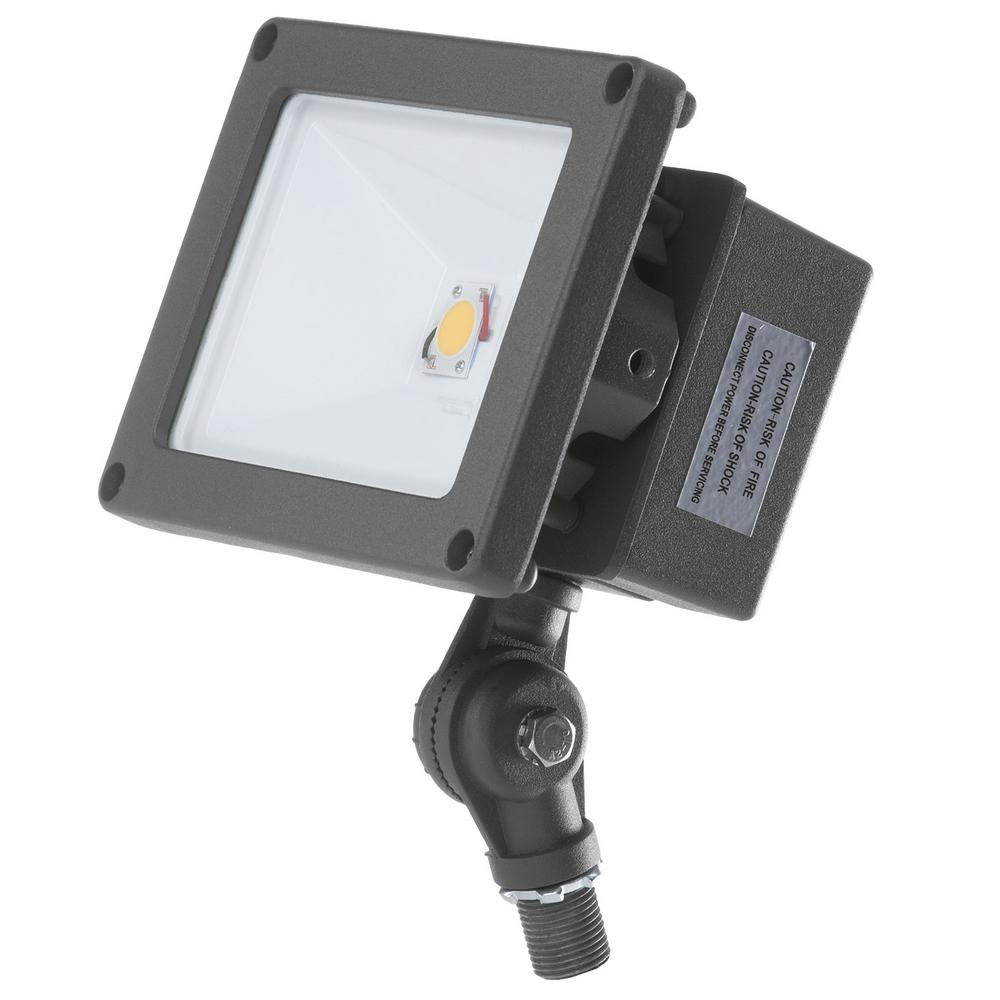 ProLED 21-Watt Bronze Outdoor Integrated LED Landscape Compact Flood Light