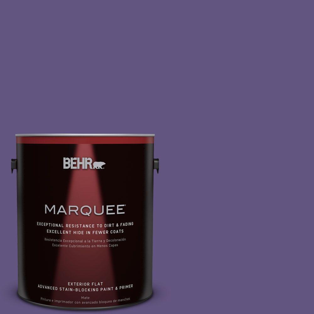 1 gal. #MQ4-28 Purple Sky Flat Exterior Paint