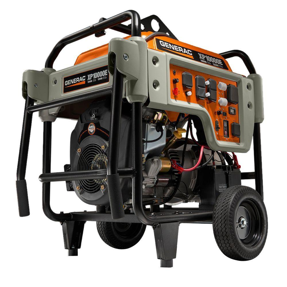Generac 10,000-Watt Gasoline Powered Electric Start Portable ...