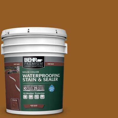5 gal. #SC-134 Curry Solid Waterproofing Exterior Wood Stain and Sealer