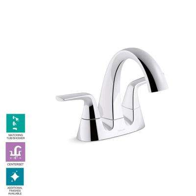 Elmbrook 4 in. Centerset 2-Handle Bathroom Faucet in Polished Chrome