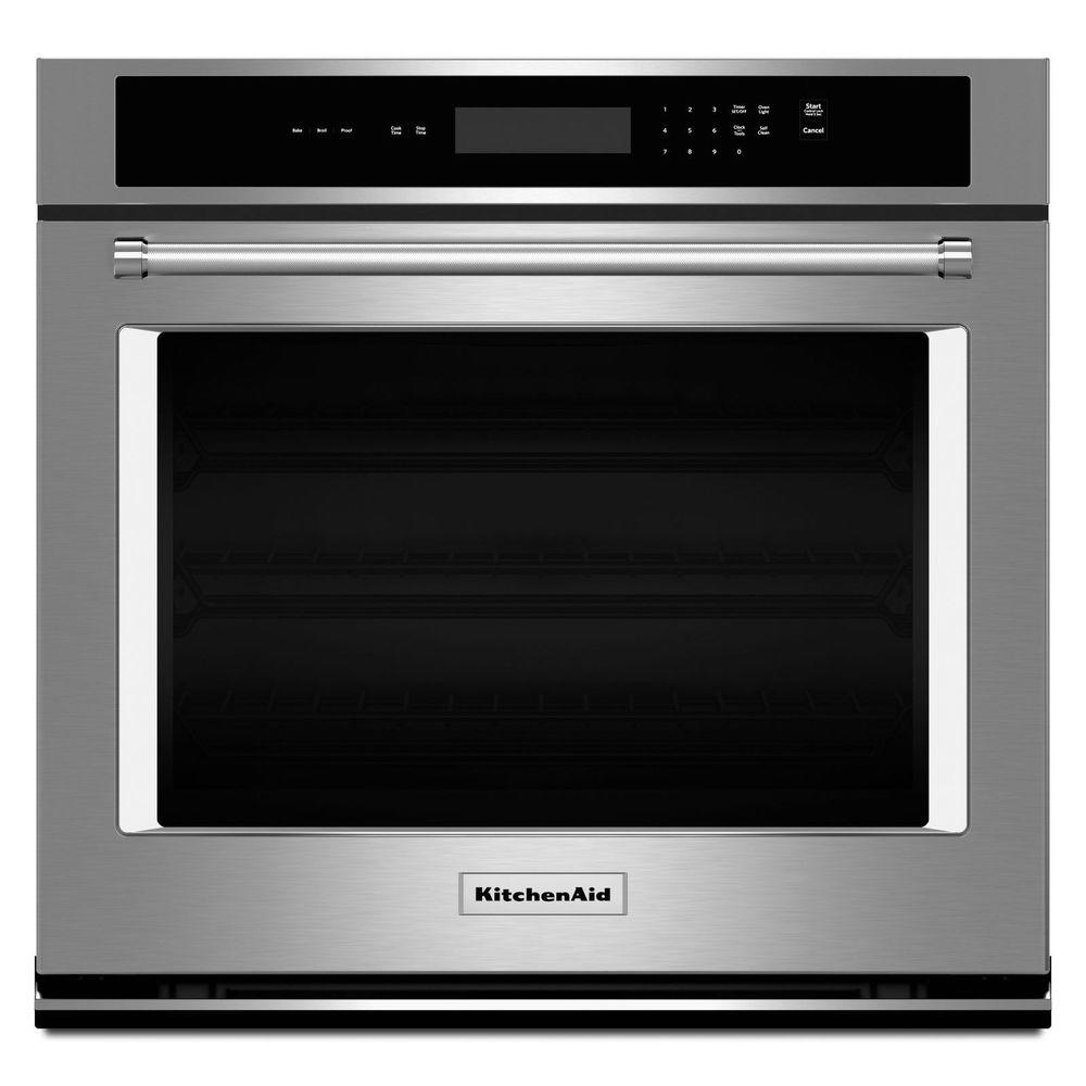 Kitchenaid 30 in single electric wall oven self cleaning in kitchenaid 30 in single electric wall oven self cleaning in stainless steel planetlyrics