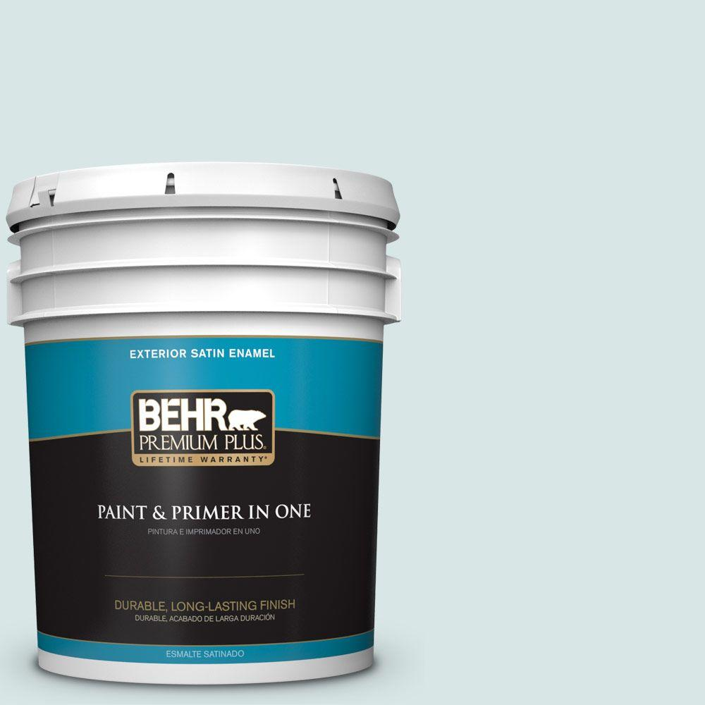 5-gal. #500E-2 Aqua Breeze Satin Enamel Exterior Paint