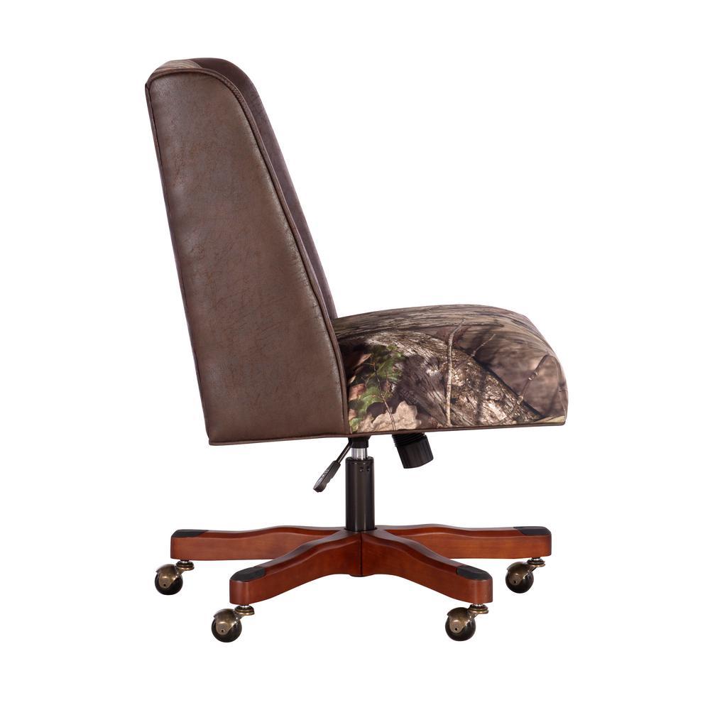 Linon Home Decor Draper Mossy Oak Camo Adjustable Office Chair Thd01881 The Home Depot