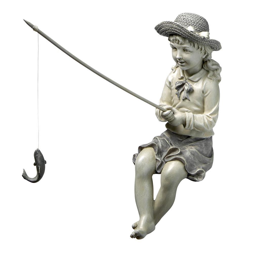 11 in. H Nellie's Big Catch Fisherwoman Statue