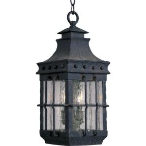 Maxim Lighting Nantucket 3-Light Country Forge Outdoor Hanging Lantern by Maxim Lighting