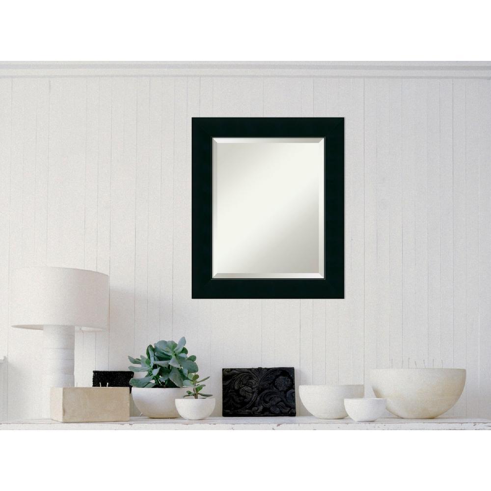Corvino Black Wood 21 in. W x 25 in. H Contemporary