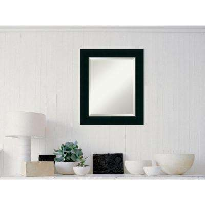 Corvino Black Wood 21 in. W x 25 in. H Contemporary Framed Mirror