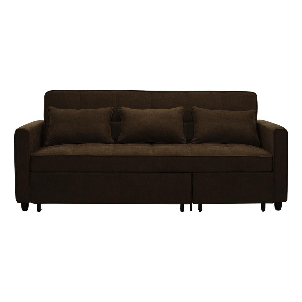 Salinas Dark Brown Convertible Sofa