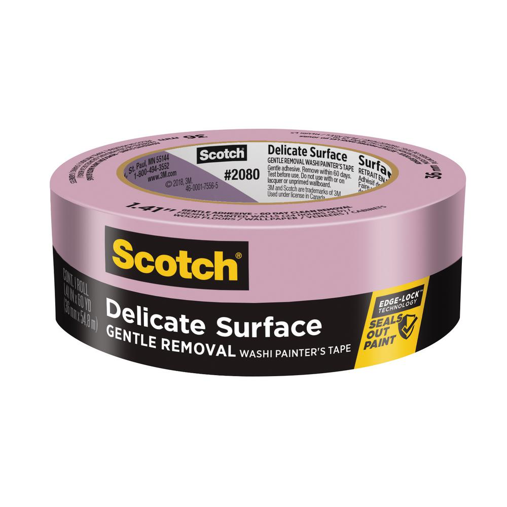 3M Scotch 1.41 in. x 60 yds. Delicate Surface Painter's Tape with Edge-Lock