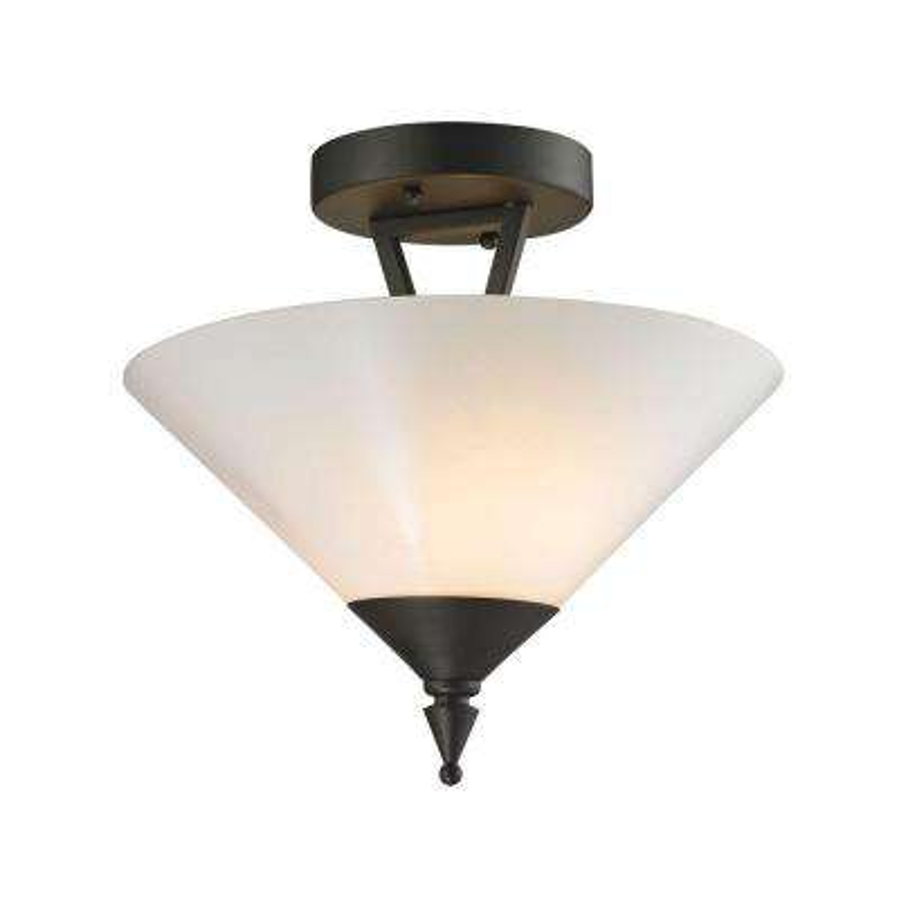 Tribecca 2-Light Oil-Rubbed Bronze Semi-Flush Mount Light