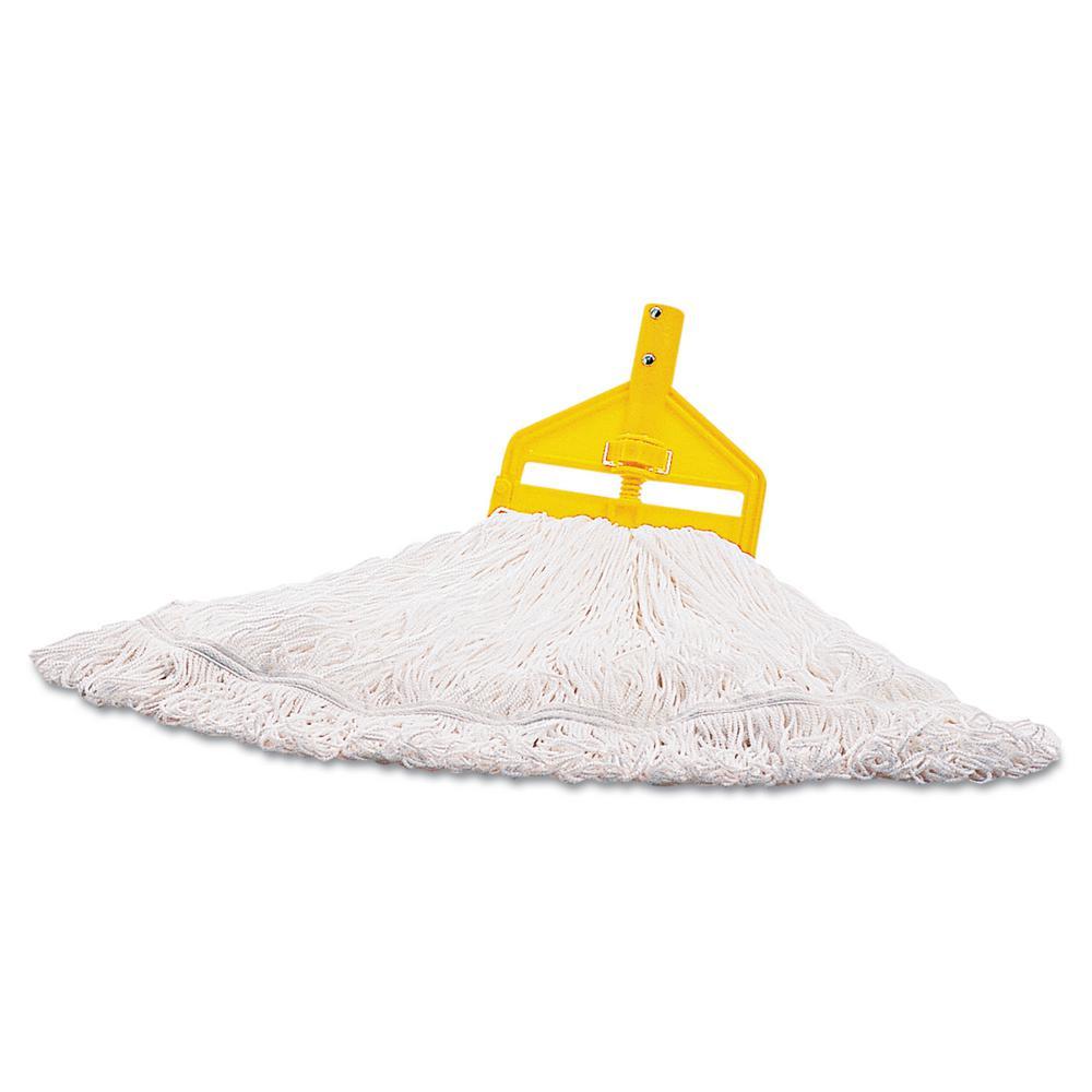 Medium Cut End White Nylon Finish Mop (6-Case)