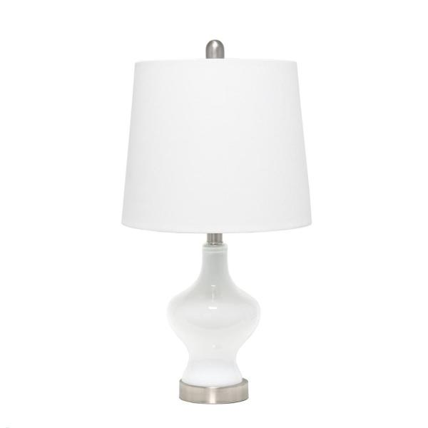 22.5 in. Paseo Table Lamp with White Fabric Shade