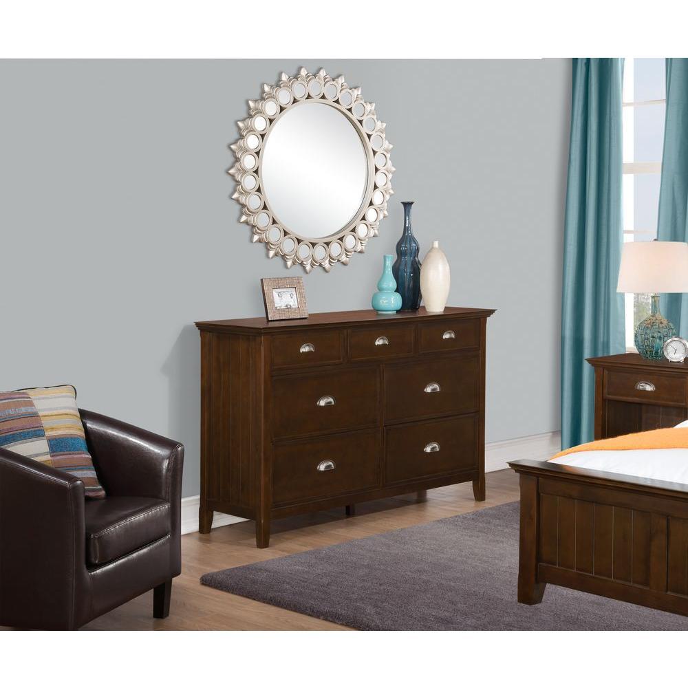 Acadian 7-Drawer Tobacco Brown Dresser