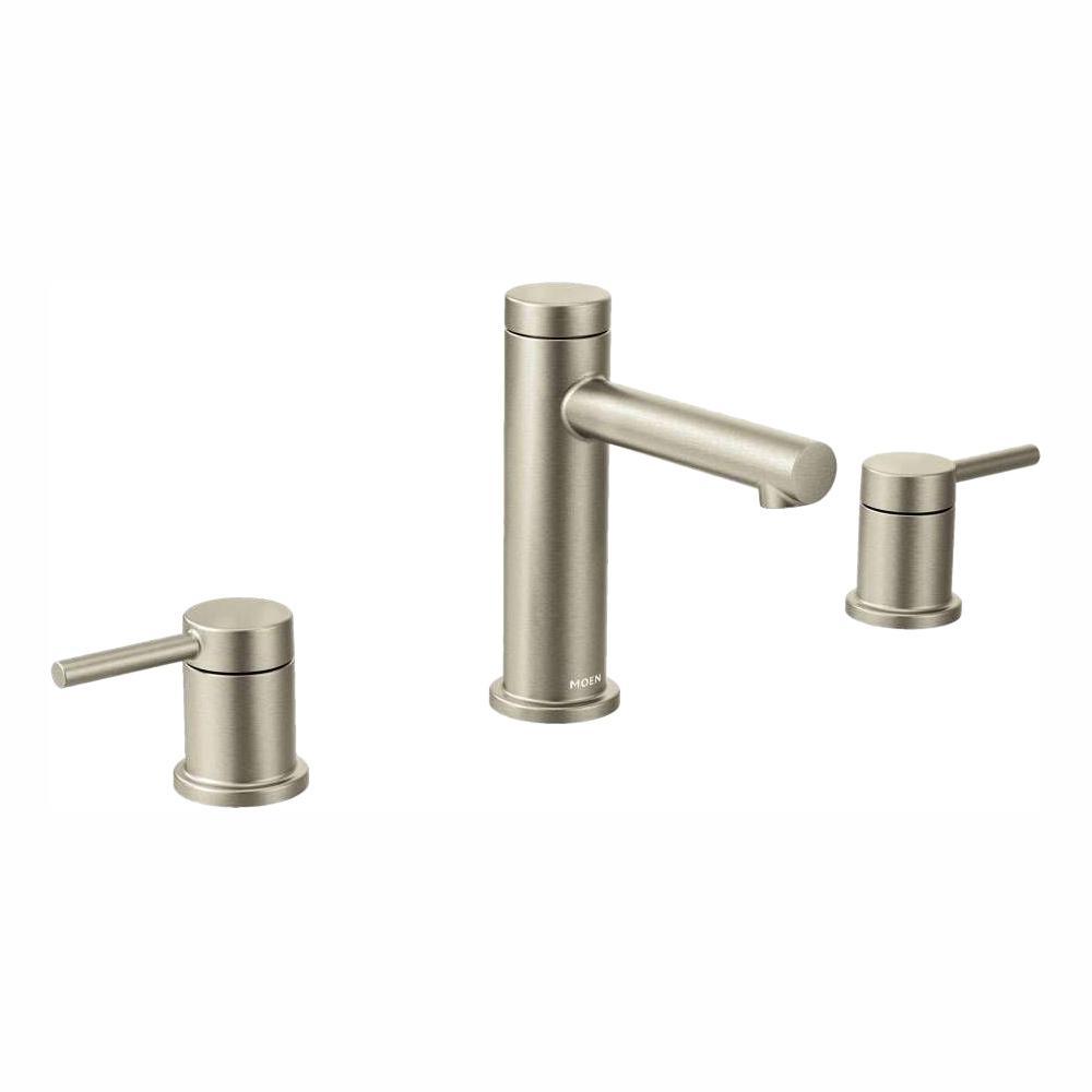 Align 8 in. Widespread 2-Handle Bathroom Faucet Trim Kit in Brushed Nickel (Valve Not Included)
