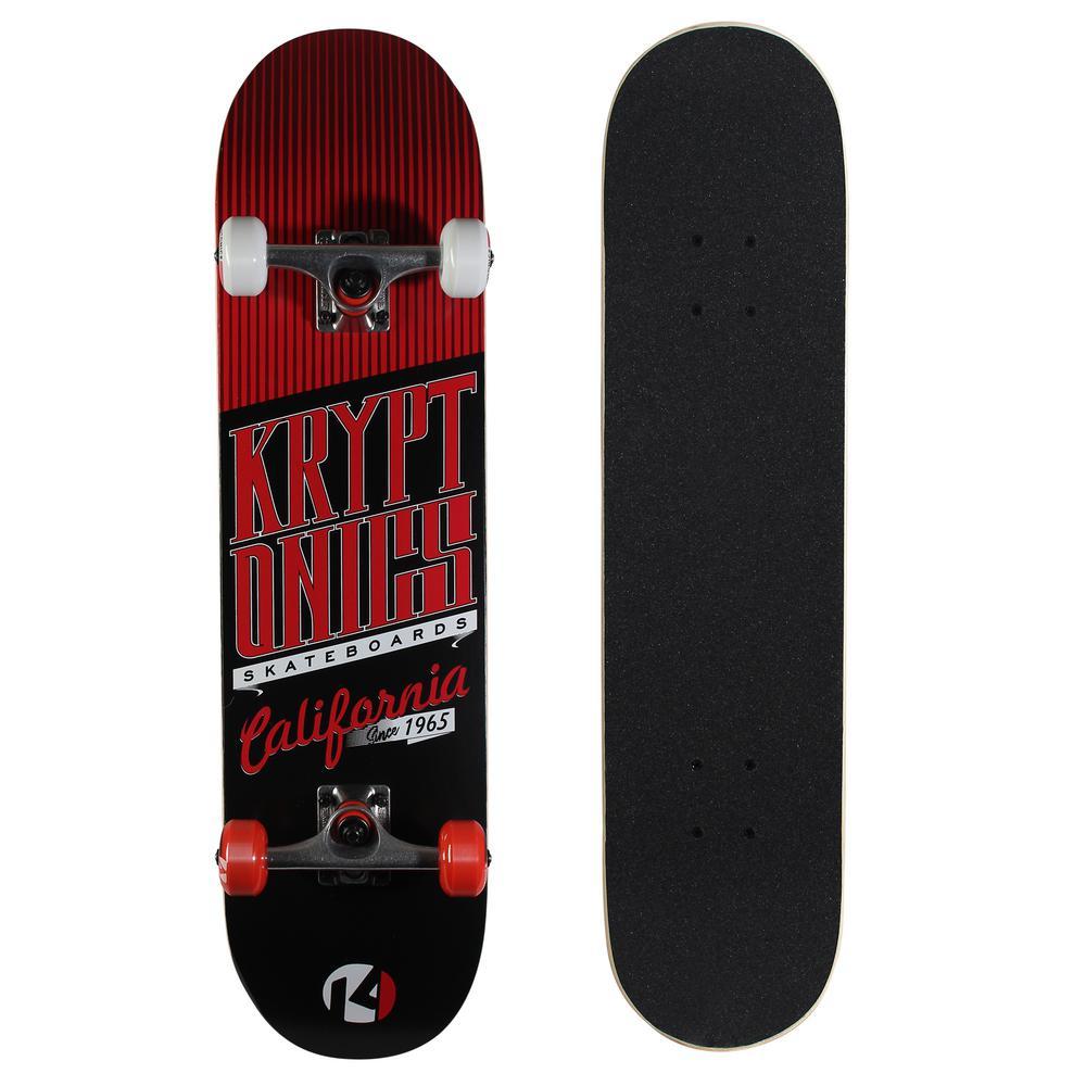 583451e2c9 Kryptonics 31 in. Sealed Pink Drop-In Complete Skateboard-163685 ...