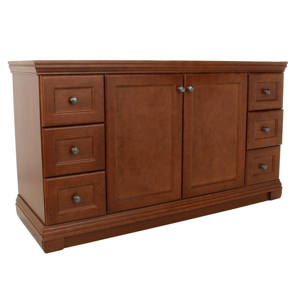 St. Paul Brentwood 60 In. Vanity Cabinet Only In Amber BRSD6021COM A   The  Home Depot