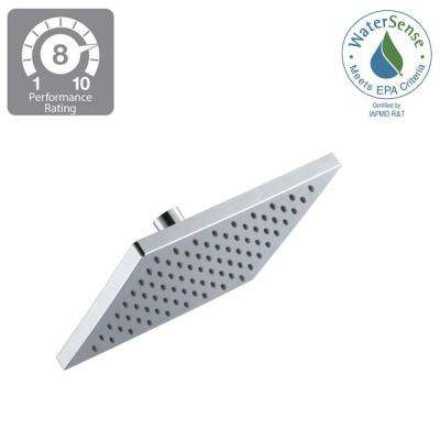 Modern 1-Spray 8 in. Square Raincan  Fixed Shower Head in Chrome