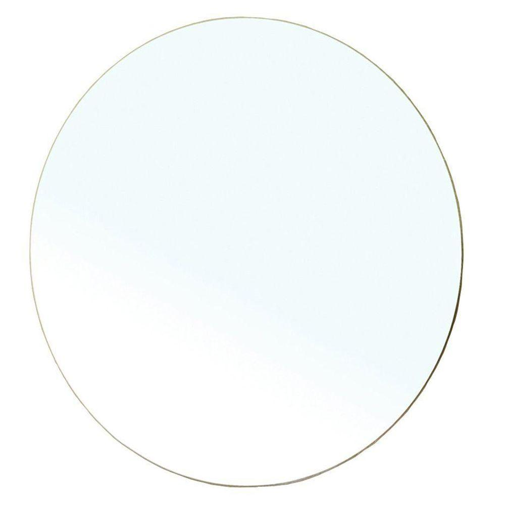 Bellaterra Home Belarus 23 in. L x 23 in. W Round Wall Mirror