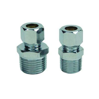 3/8 in. MIP and 1/2 in. MIP Brass Water Supply Adapters