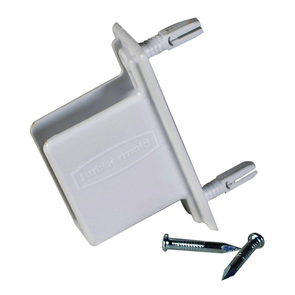 Rubbermaid 3.75 in. Wall End Bracket for Wood or Wire Shelving ...