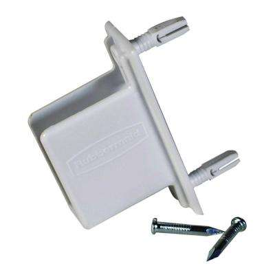 3.75 in. Wall End Bracket for Wood or Wire Shelving
