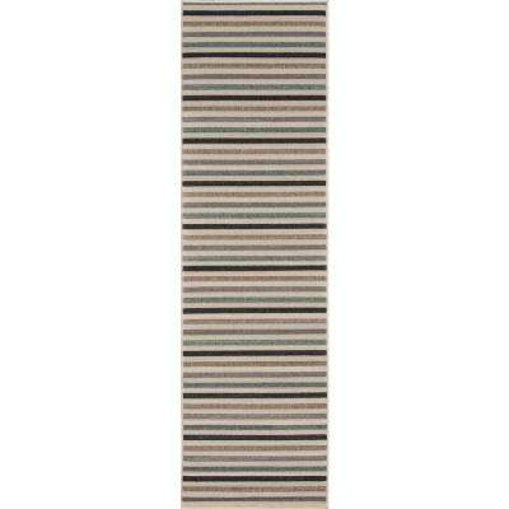 Baja Stripe Sage 2 ft. 3 in. x 7 ft. 6 in. Indoor/Outdoor Runner