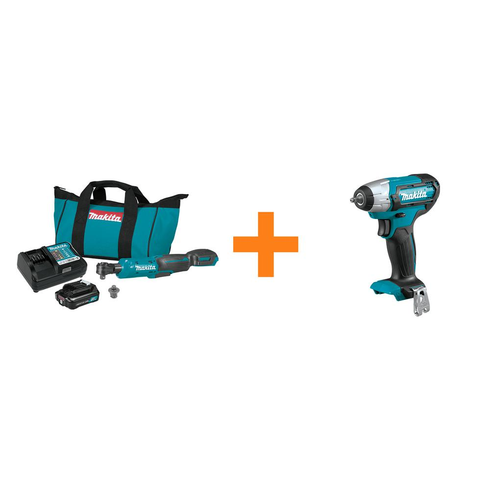 2.0 Ah 12-Volt MAX CXT 3/8 in./1/4 in. Sq. Drive Ratchet Kit with bonus 12-Volt MAX CXT 1/4 in. Sq. Drive Impact Wrench was $288.0 now $189.0 (34.0% off)