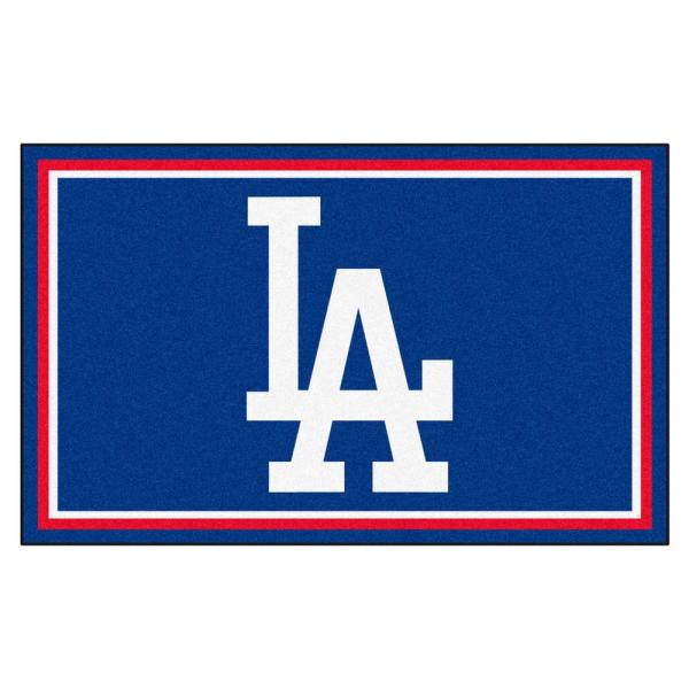 MLB - Los Angeles Dodgers Blue 6 ft. x 4 ft. Indoor Rectangle Area Rug