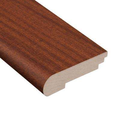 Matte Bailey Mahogany 3/8 in. Thick x 3-1/2 in. Wide x 78 in. Length Hardwood Stair Nose Molding