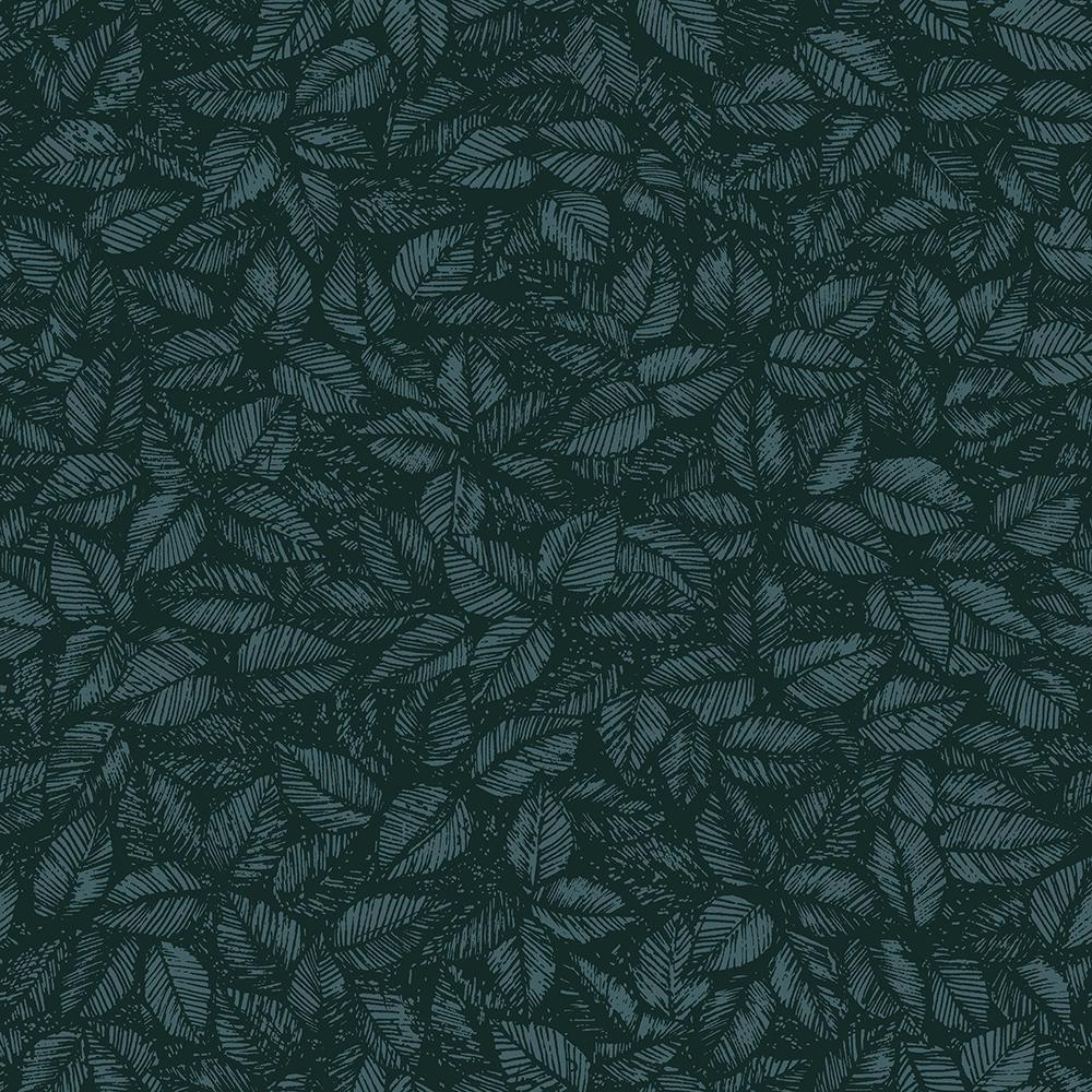57.8 sq. ft. Amorina Teal Leaf Wallpaper