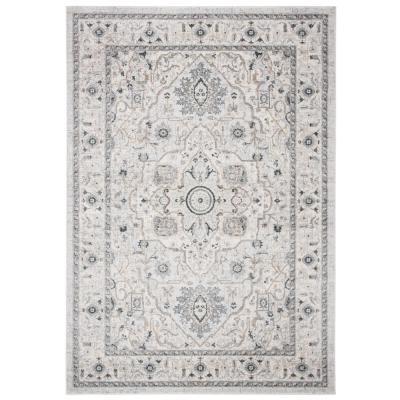 Isabella Light Gray/Gray 4 ft. x 6 ft. Area Rug