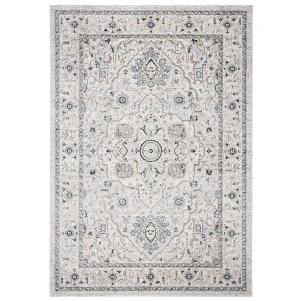 Isabella Light Gray/Gray 9 ft. x 12 ft. Area Rug