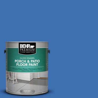 1 gal. #T18-17 Wide Sky Gloss Interior/Exterior Porch and Patio Floor Paint
