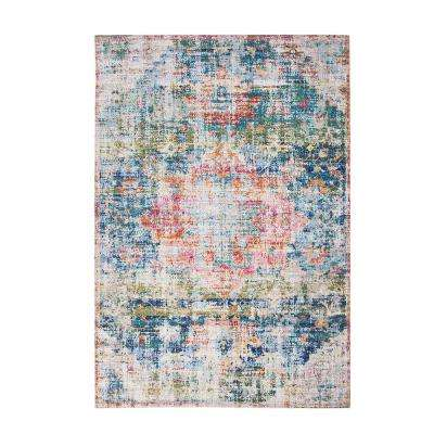 Rose Biscayne Blue/Ivory/Multi 8 ft. x 10 ft. Area Rug