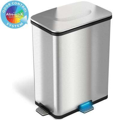 TapCan Deluxe Effortless Stainless Steel 49 l Trash Can with Unique 3 Pedal Sensors