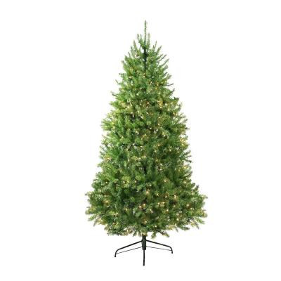 12 ft. Pre-Lit Northern Pine Full Artificial Christmas Tree with Clear Lights