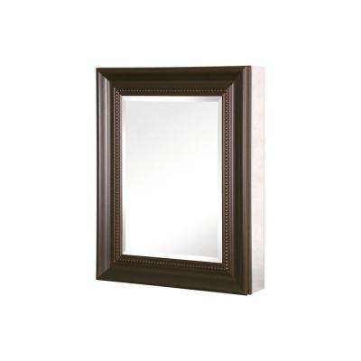 20 in. W x 26 in. H x 5-1/2 D Framed Bathroom Recessed or Surface-Mount Bathroom Medicine Cabinet in Oil Rubbed Bronze