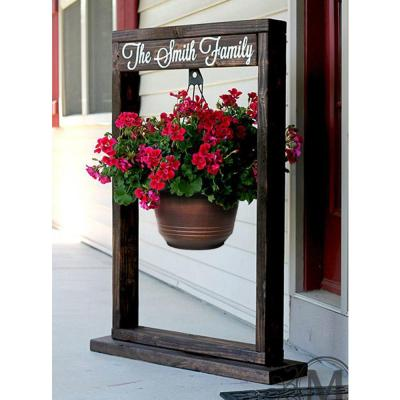 12.5 in. Warm Copper Plastic Torino Hanging Basket