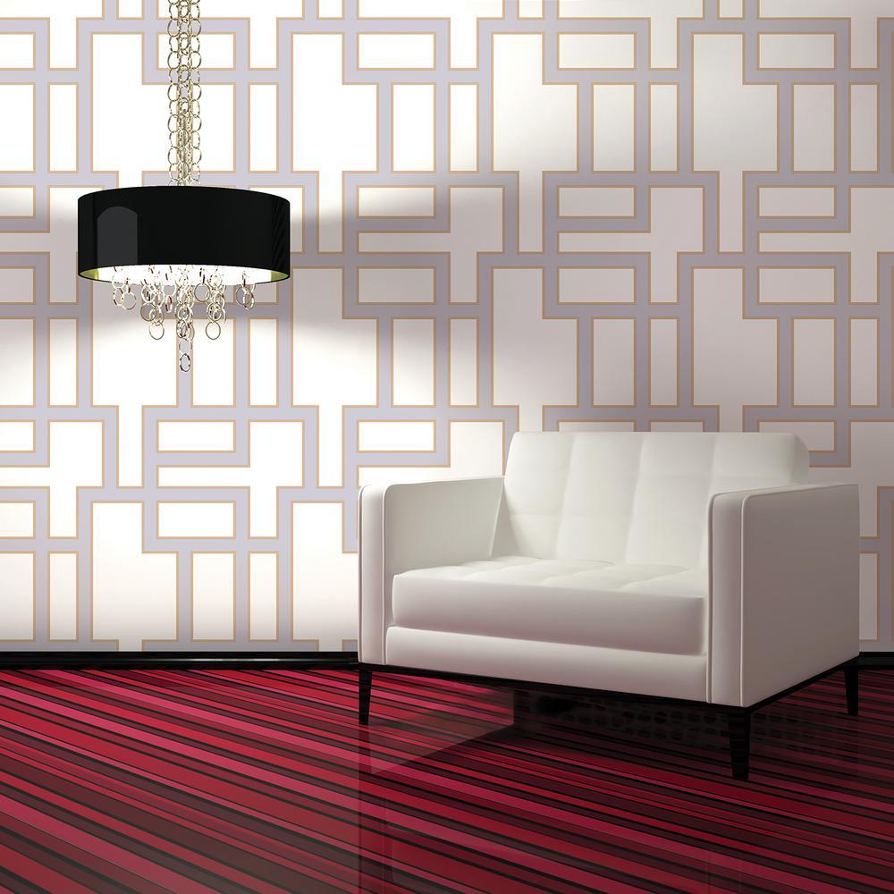 Tempaper Wallpaper: Tempaper Lilac Maze Wallpaper-MA073