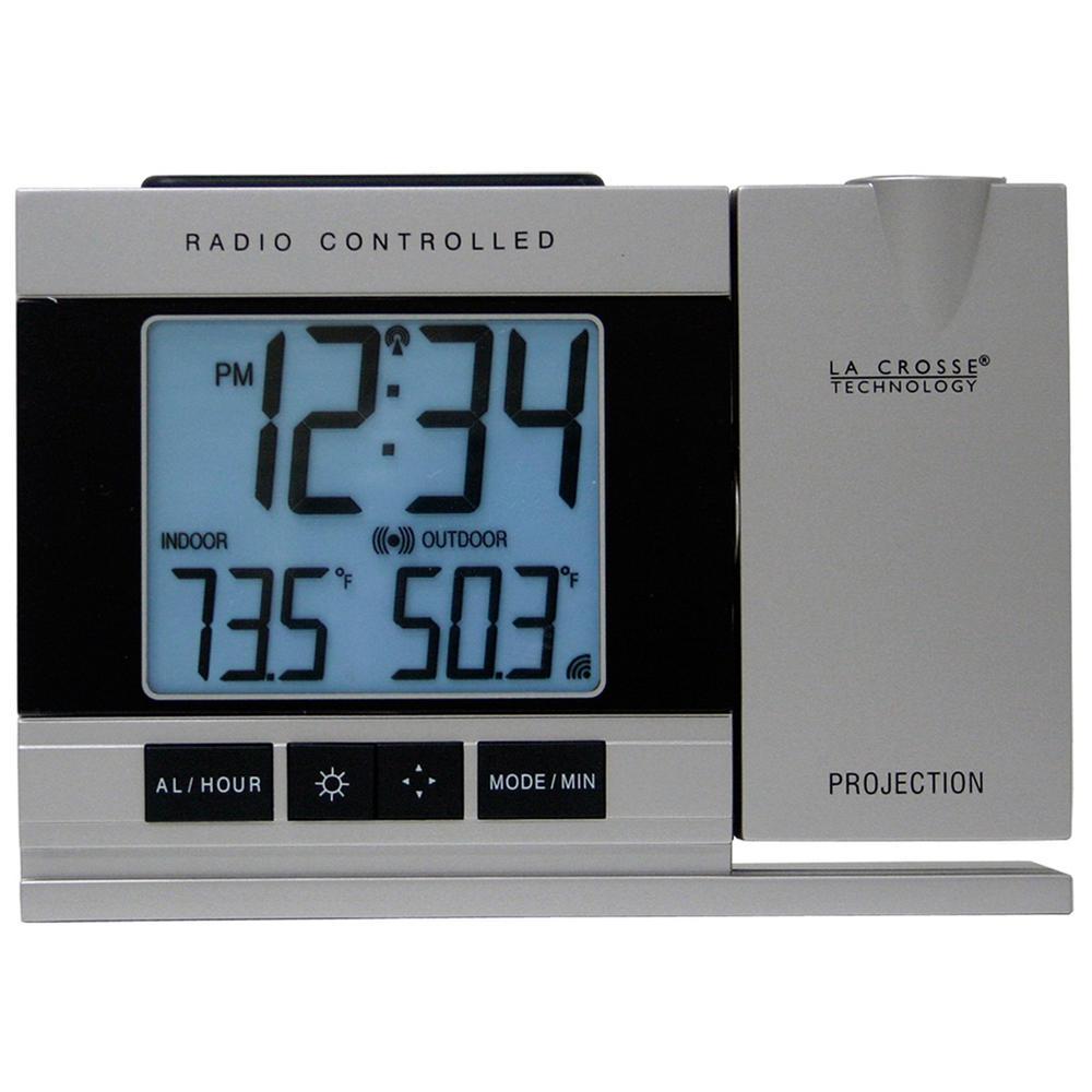 Projection Gray Digital Alarm Clock with Temperature