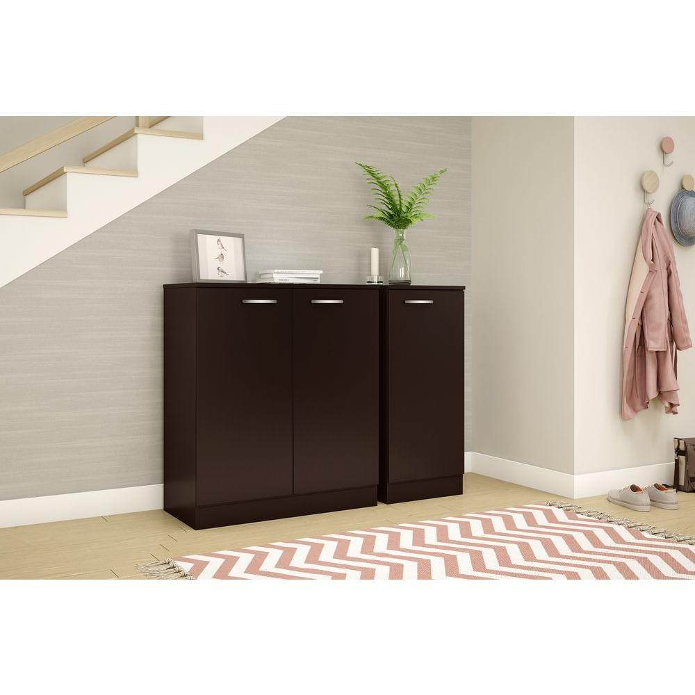 Cabinets consoles compare prices at nextag for Chocolate brown cabinets