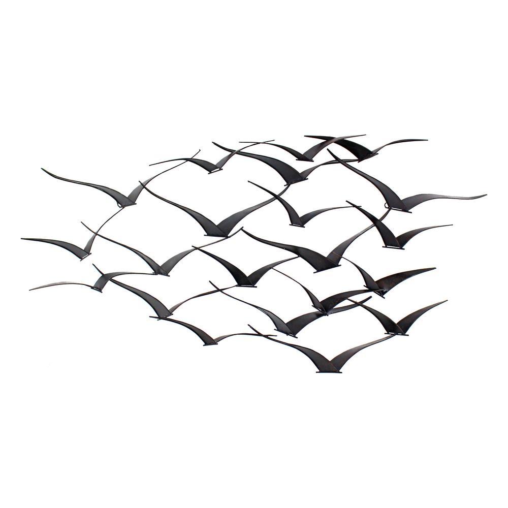 Darla Brown Metal Birds Wall Decor