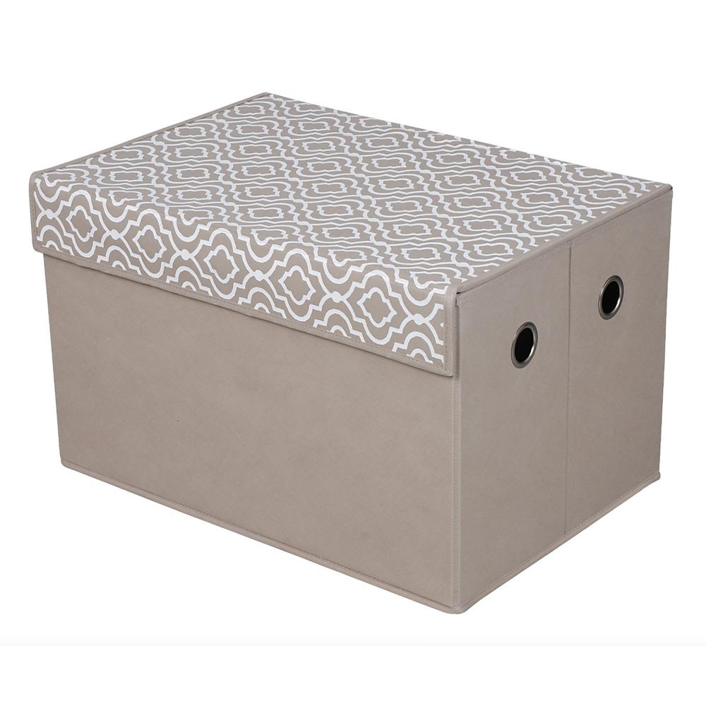 Foldable Storage Chest- Moroccan Taupe
