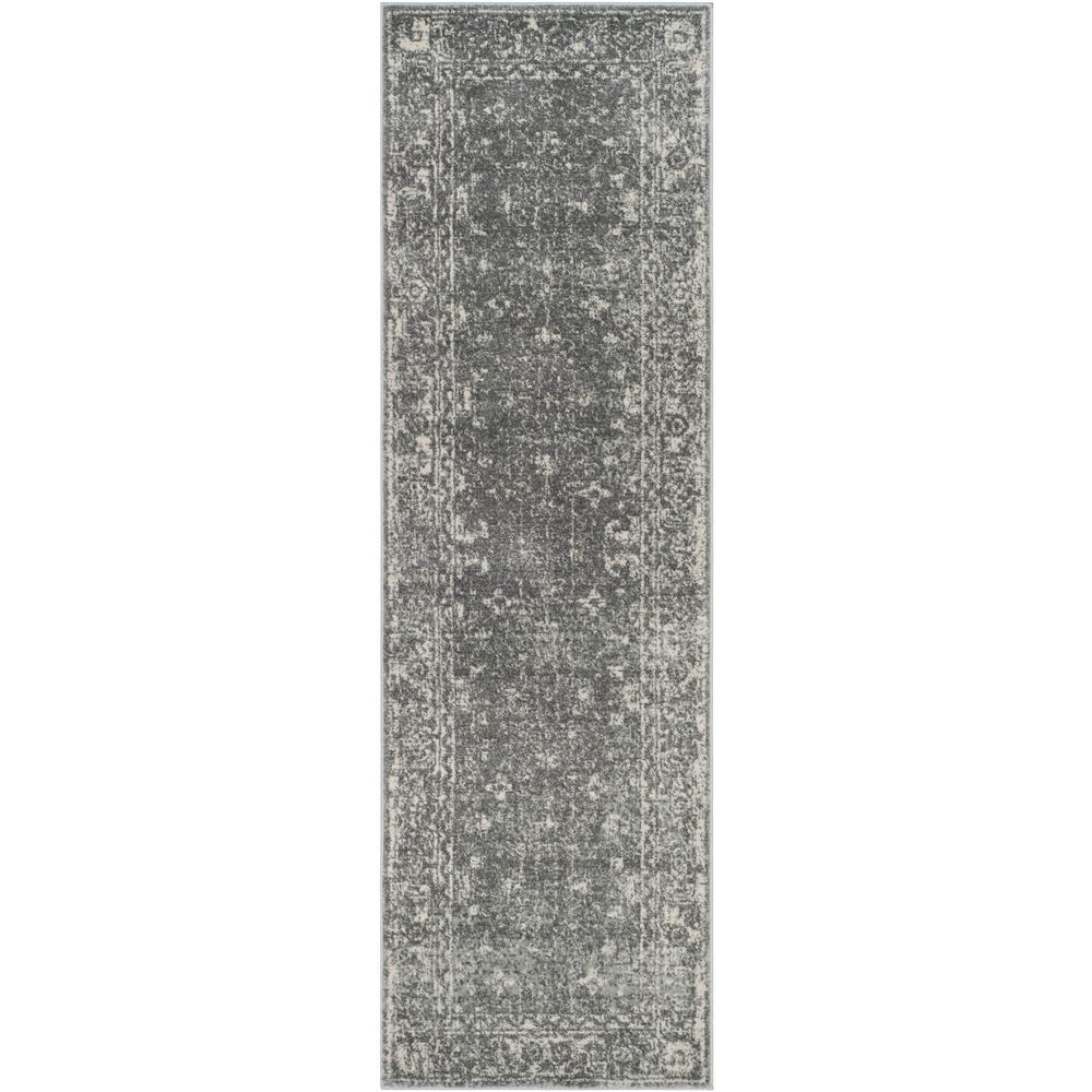 Evoke Gray/Ivory 2 ft. 2 in. x 21 ft. Runner Rug
